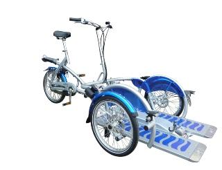 Velo2plus Rollstuhl Transport Dreirad