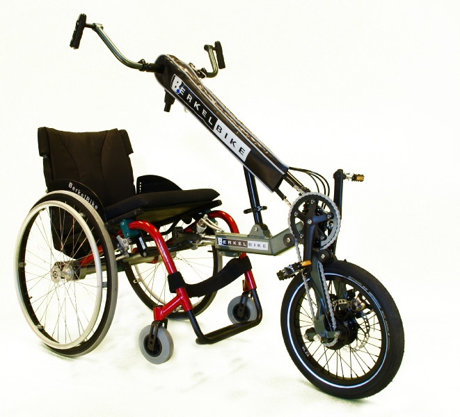 BerkelBike Connect Handbike mit Rollstuhl Adapter