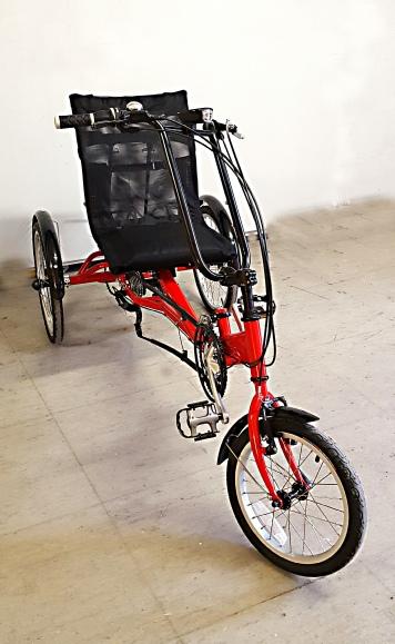 Elektro Scooter Dreirad Fahrrad für Erwachsene bei Gleichgewichts Störungen, MS, Parkinson etc EasyG0 von vanRaam