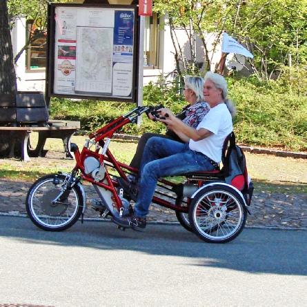 Elektro Dreirad Fahrrad für 2 Personen - ideal für Einrichtungen, für Pflegeheime, für Demenz Patienten, Fun2Go von vanRaam