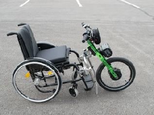 VarioDrive Rollstuhl Vorspannbike mit Elektromotor