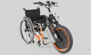 Wheel-e Rollstuhl Vorspannbike mit Elektromotor